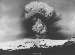 Sopka Katla výbuch 1918