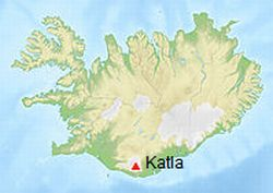 Sopka Katla na Islandu