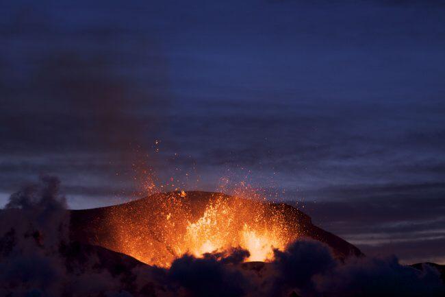 Sopka Eyjafjallajokull Island