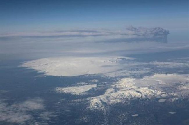 Sopka Katla a Eyjafjallajokull na Islandu